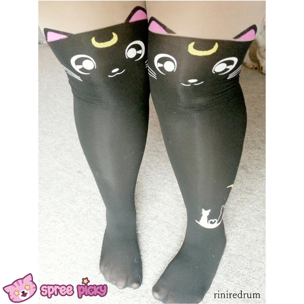 0829b9dcbc4da Sailor Moon Luna/ Artemis Kitten with Tail on Back Legging Tights SP141305 -