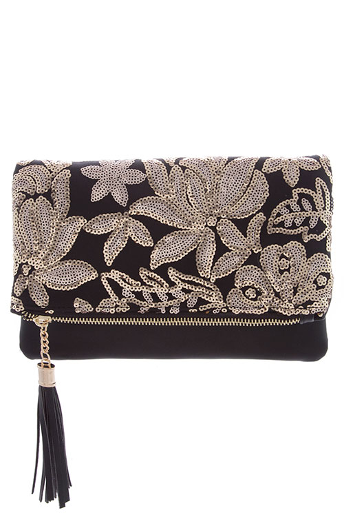 select for official durable in use select for authentic Sequin Accent clutch from Stylo Clothing and Shoes