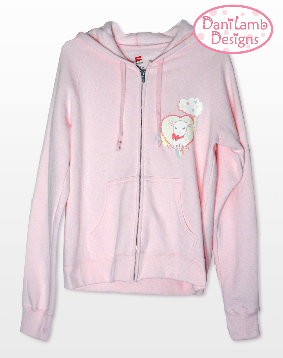 Kawaii Fairy Kei Pink Zip Up Jacket Pastel Rainbow Lamb Danilamb ...