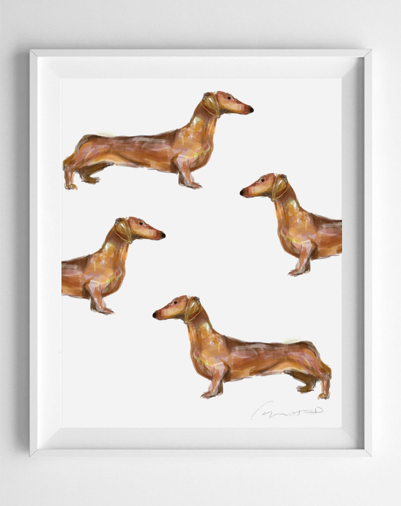 Dachshund Art Print Dachshund Dog Print Wiener Dog Print