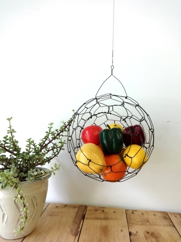 Large Hanging Wire Fruit Sphere Basket On Storenvy