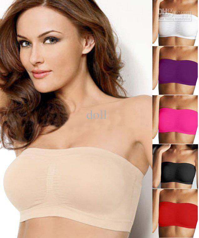 c3f5fdbc2113 Shear seamless bandeau bra top with removable original