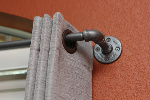 Extra Long Industrial Chic Pipe Curtain Rod 0 5