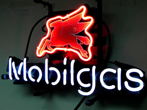 Brand New Mobilgas Flying Horse Beer Bar Neon Light Sign ...