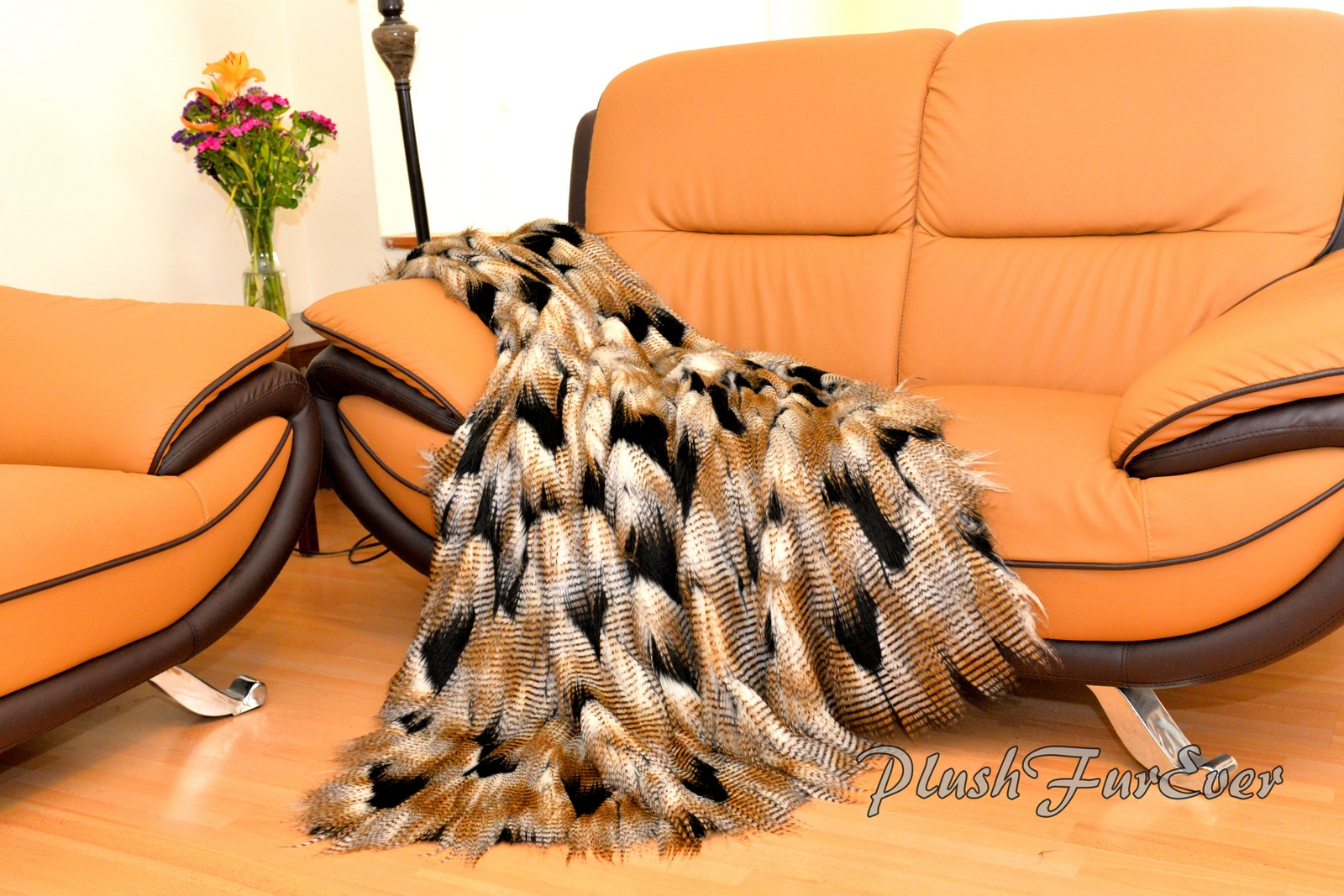 Superb Fancy Feather Fur Throw 60 X 72 Rectangle Blanket Sofa Couch Comforters Gold Black White Ostrich Luxurious Super Soft Machost Co Dining Chair Design Ideas Machostcouk
