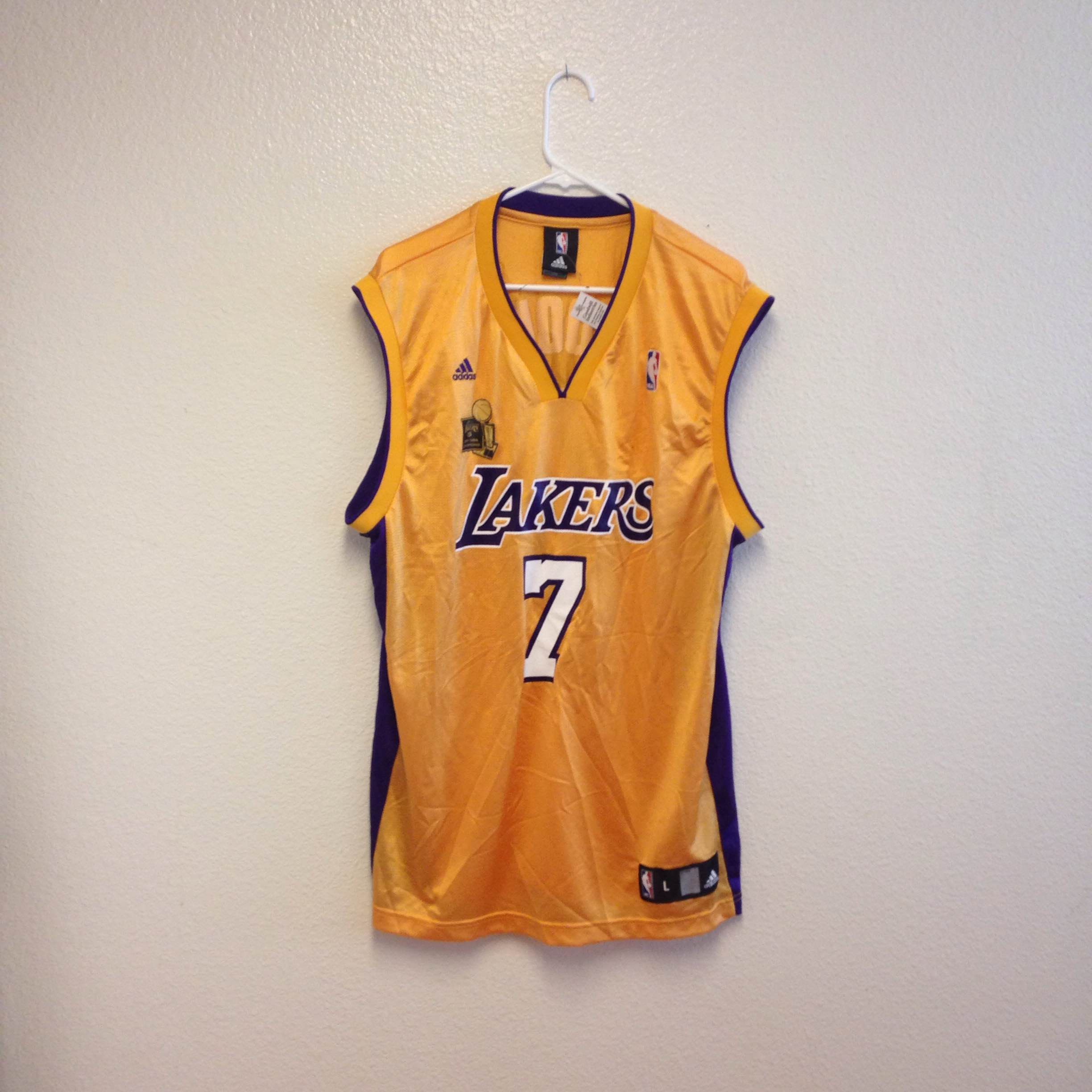 cc5f3fe9ef3 Los Angeles Lakers Lamar Odom Adidas Jersey Large · Kings Court ...