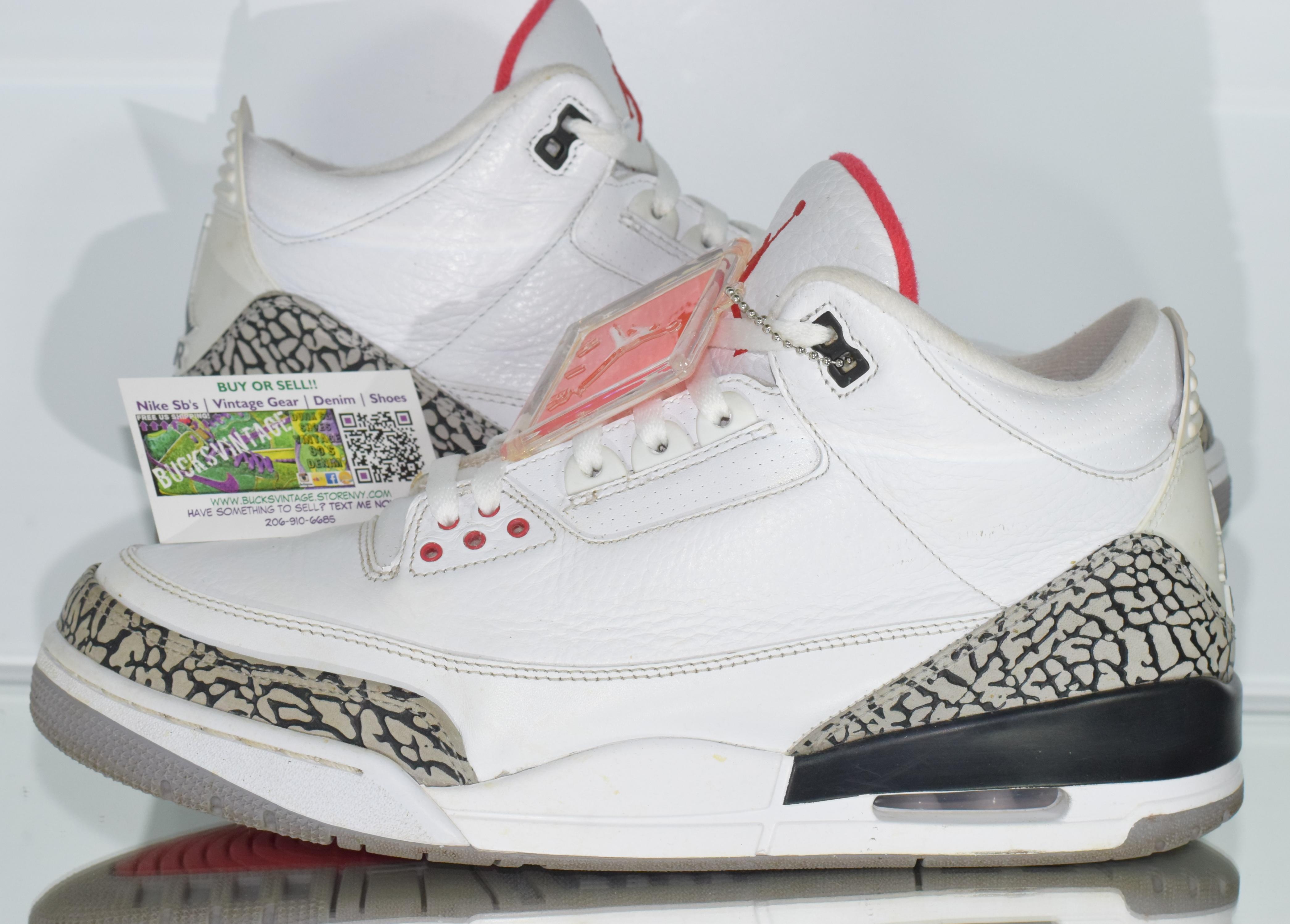 quality design 033ab 68dd4 Size 12 | 2011 Nike Air Jordan 3 White Cement Elephant Print from  BucksVintage