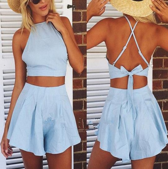 6beb5dad039 Cute two pieces romper jumpsuit playsuit · kslademade · Online Store ...