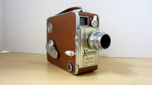 Vintage Leather Wrapped Keystone Bel Air USA Magazine 8 K-41 8 Mm Movie  Camera from This and That!