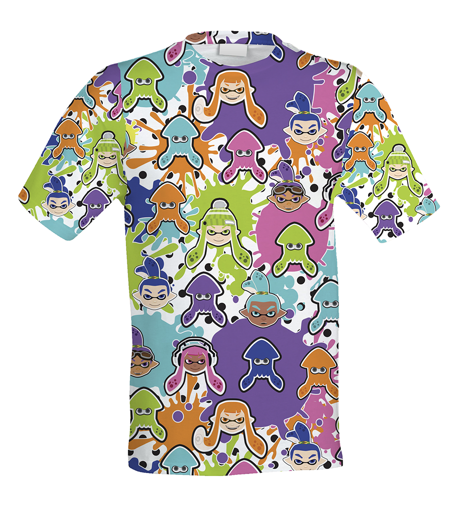 Cut sew splatoon inspired men 39 s shirt splatoon t shirt for All over printing t shirts