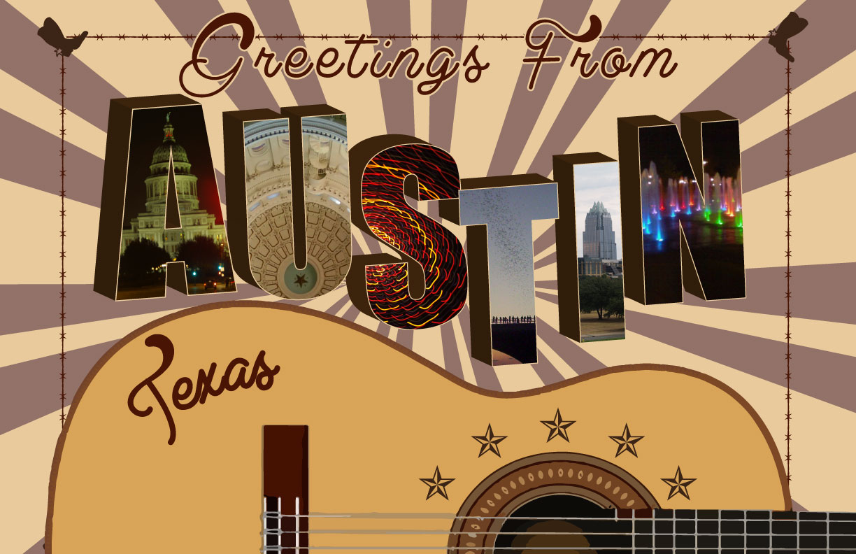 Greetings from austin texas poster on storenvy m4hsunfo