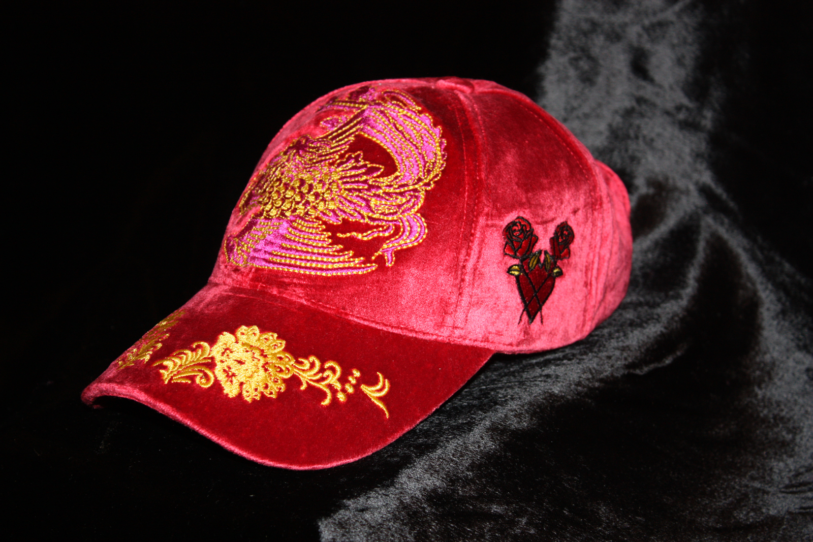 74beceebd Rebel Chic Pink Baseball Cap Shanghai Flower from Charles King Paris