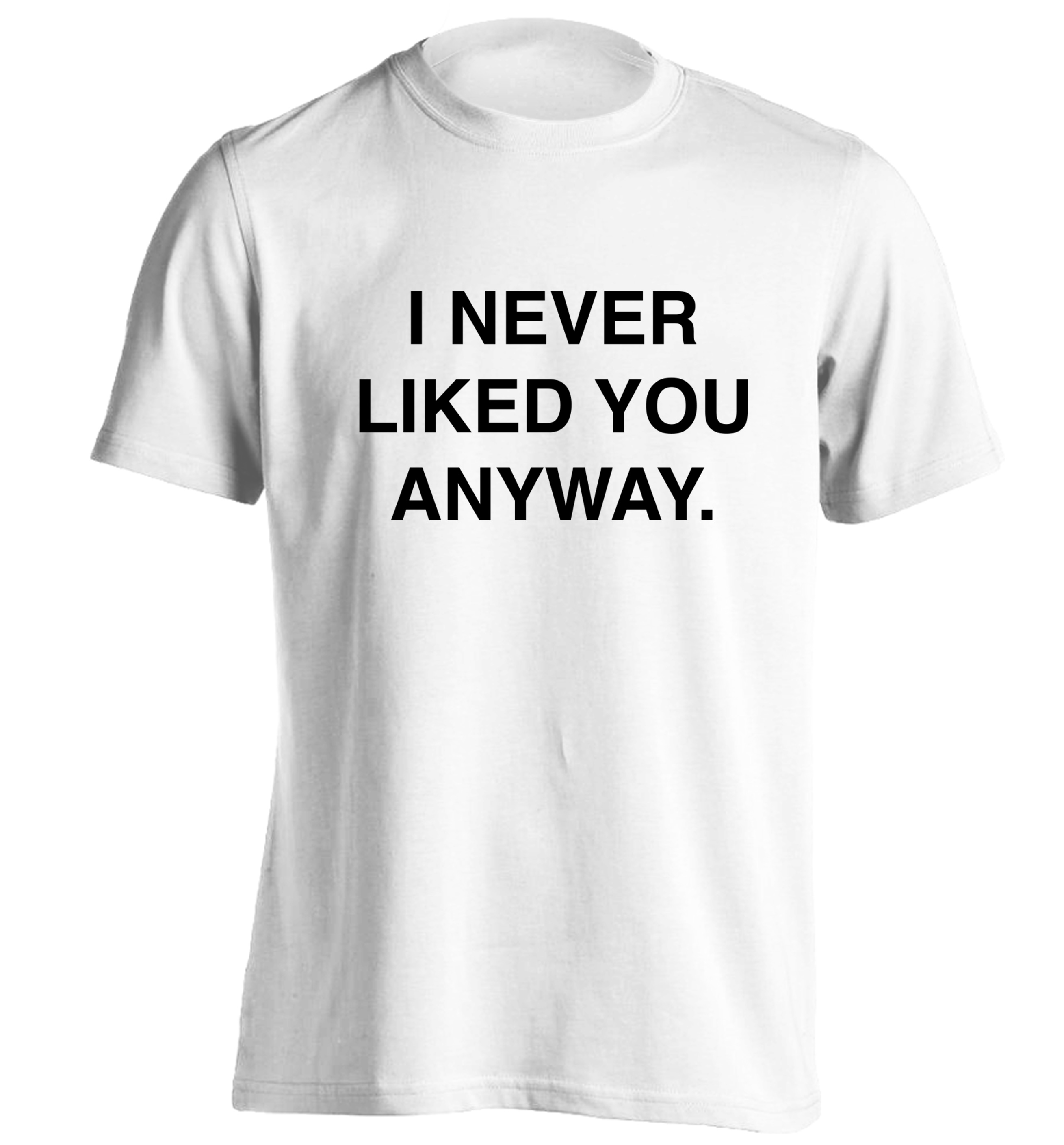 I Never Liked You Anyway Tshirt Hipster Tumblr Instagram Slogan Text