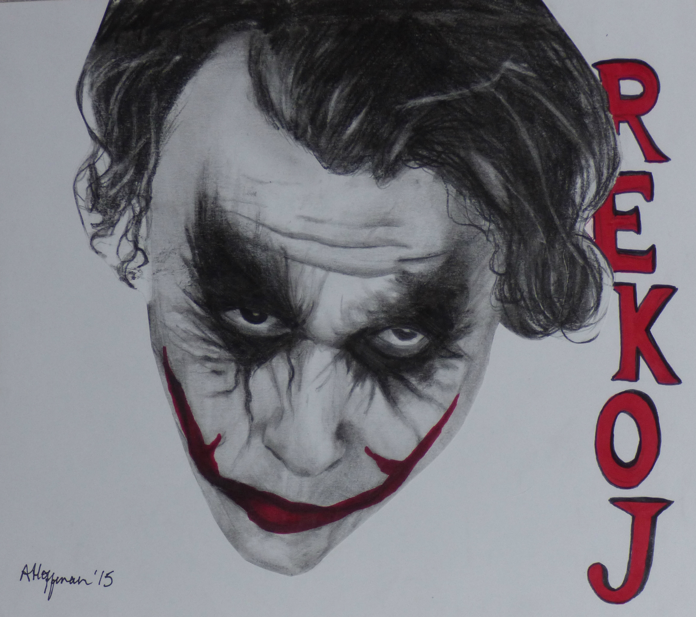 Dark knight joker drawing