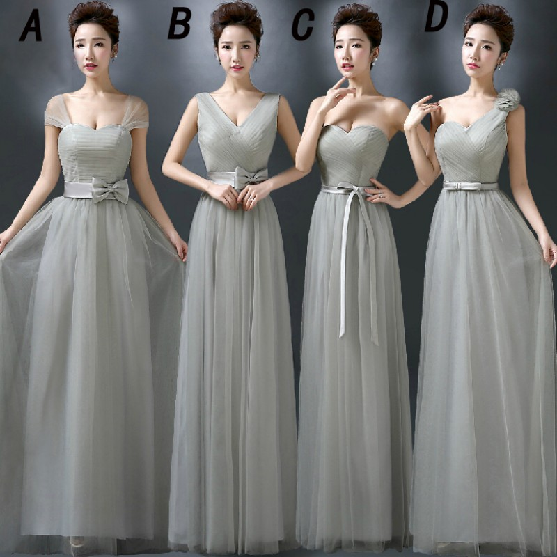 Grey Gowns Wedding: Grey Bridesmaid Dresses, Tulle Bridesmaid Dresses, One