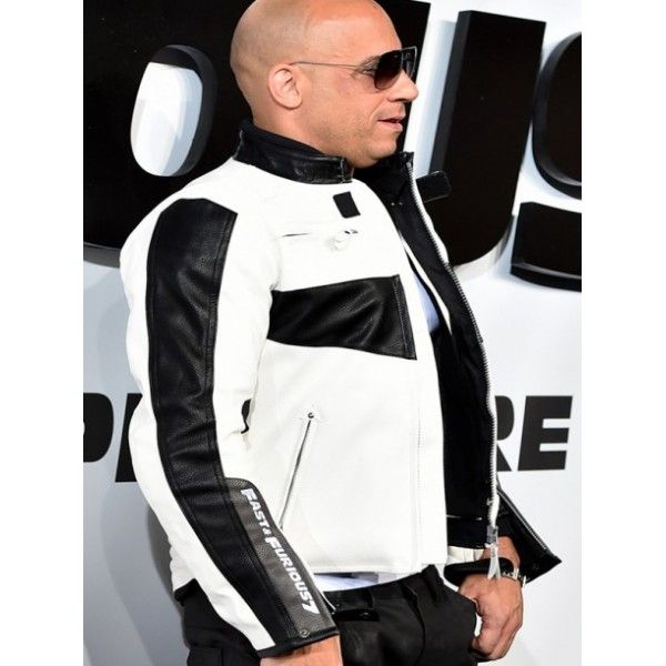 Fast And Furious 7 Premiere Vin Diesel White Leather Motorcycle