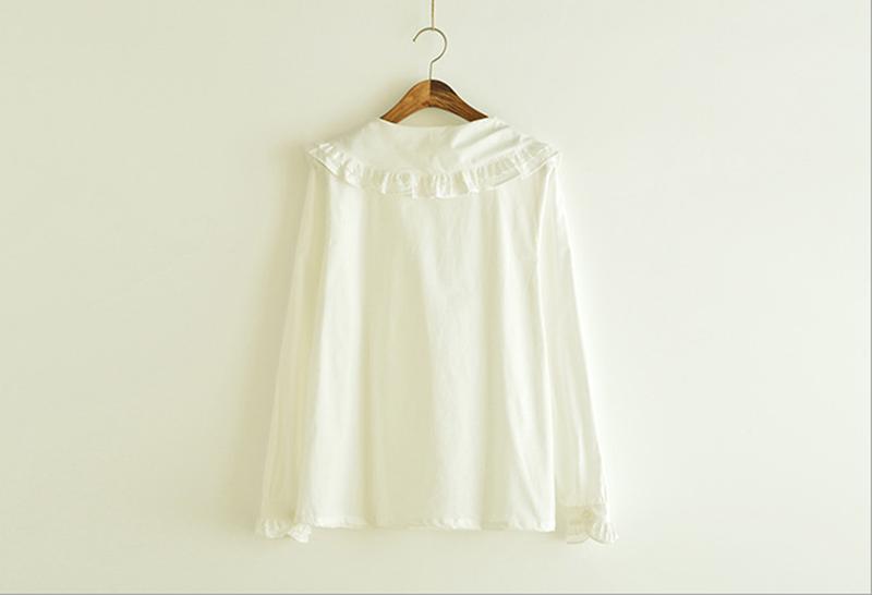 2f724028acc Lolita Ruffles Collar White Blouse