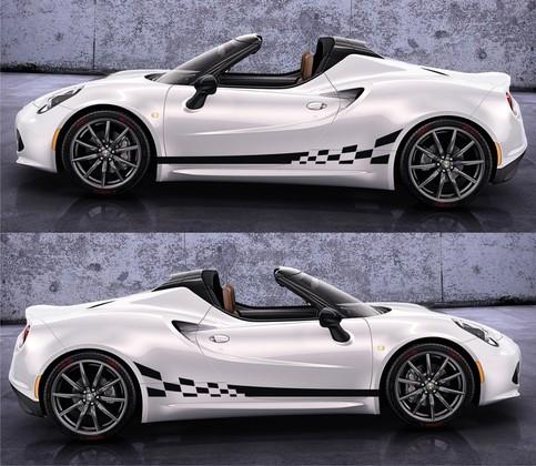 spk046 alfa romeo 4c racing stripes sticker decal kit type 960 sports car coupe competizione. Black Bedroom Furniture Sets. Home Design Ideas
