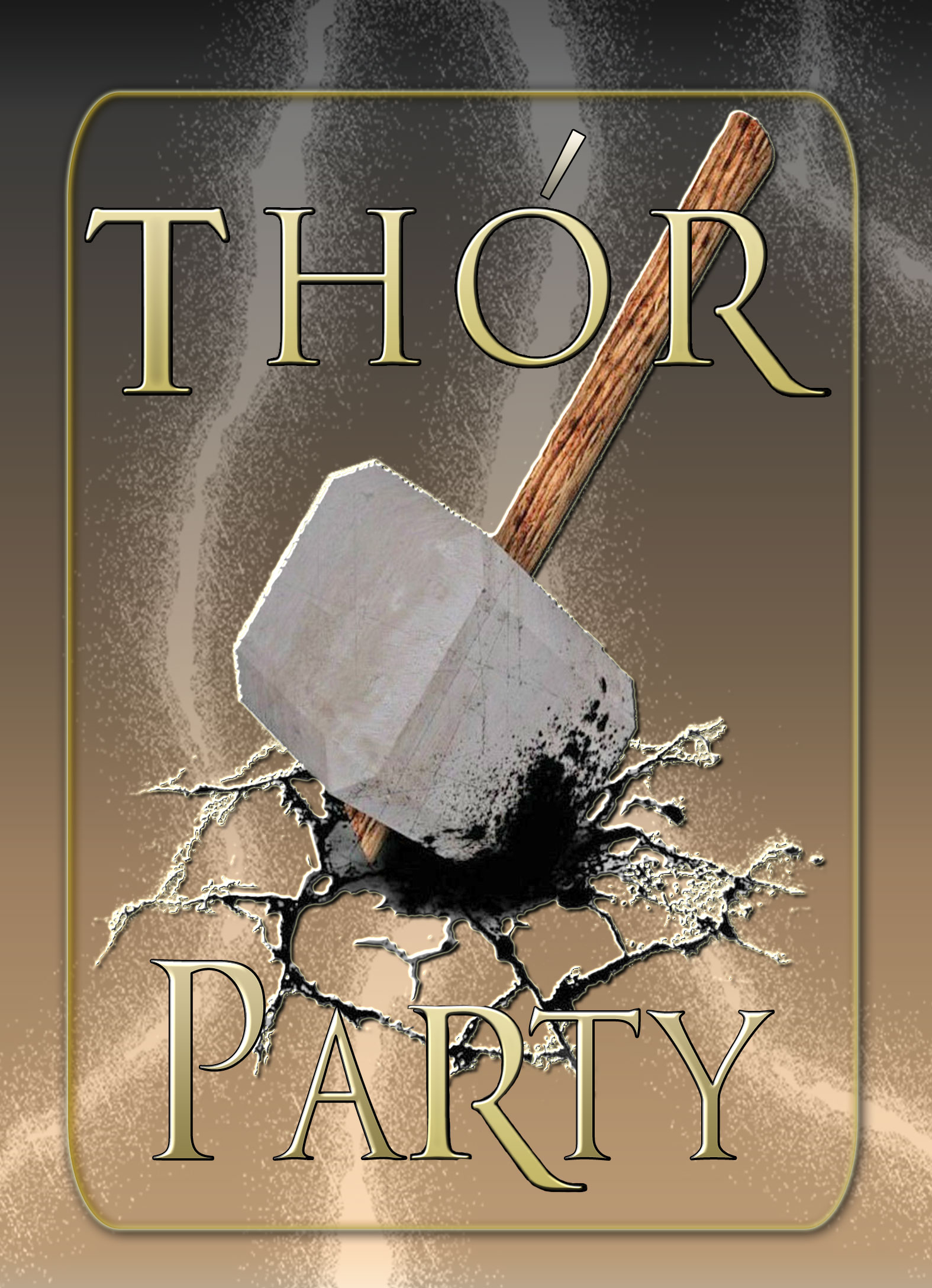 Thors hammer personalized birthday invitation 2 sided birthday card thors hammer personalized birthday invitation 2 sided birthday card party invitation thor party filmwisefo