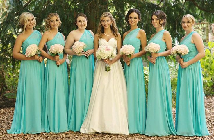 bfe8a57e22e Gorgeous Bridesmaids in Aqua tiffany blue Dresses  David s Bridal Him  Ralph  Lauren  Her  Ravit Designs … Fb13995f6be3e2ec63dbbc0f725ac874 original