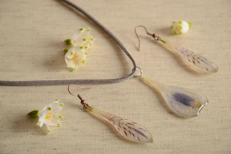 3cd31603f48f73 Handmade botanical jewelry set 2 items epoxy resin on Storenvy
