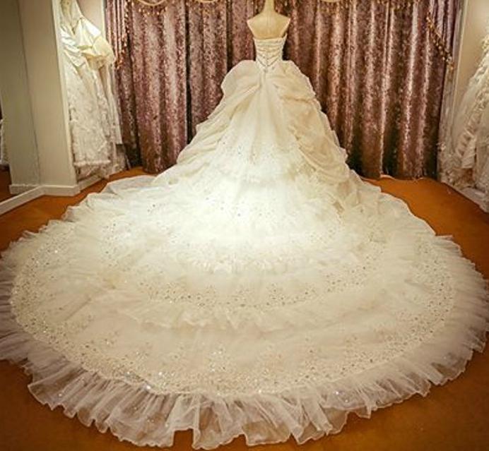 Wedding Dresses Train 250CM $490 EXTRA on Storenvy