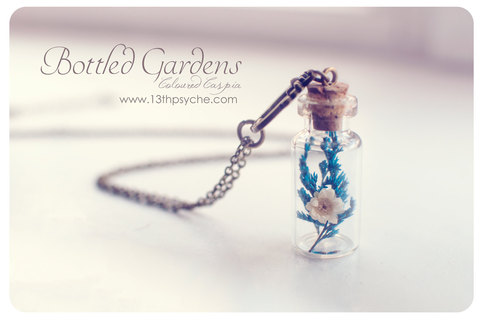 Dried Flowers Bottle Necklace Flower Necklace Glass Vial