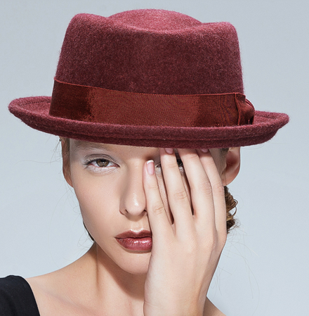 Black  wine red grey women s vintage wool hat winter autumn floppy hat-- 77537c5a12c7