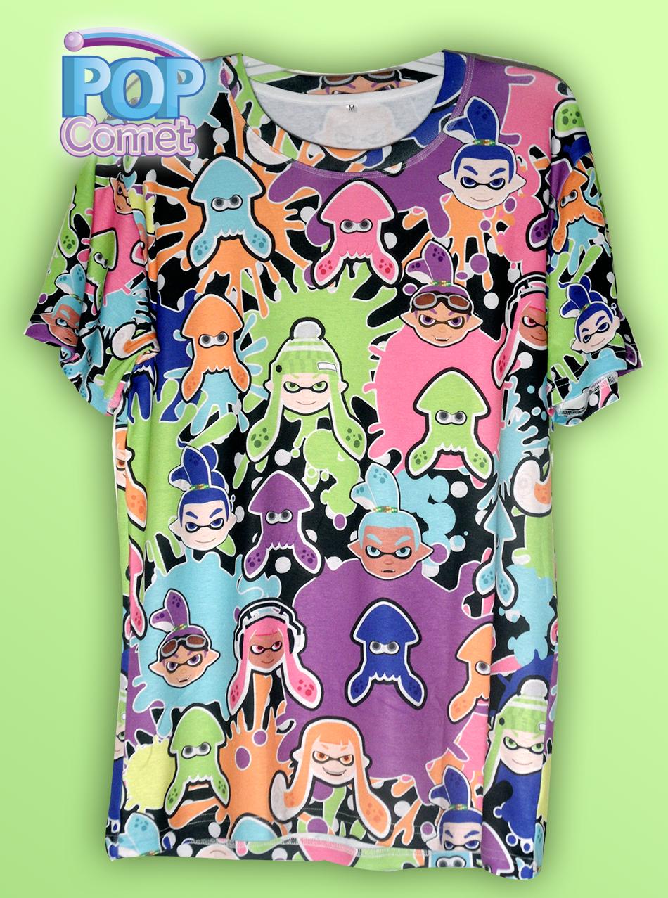 Cut Sew Splatoon Inspired Mens Shirt Splatoon T Shirt Inkling All