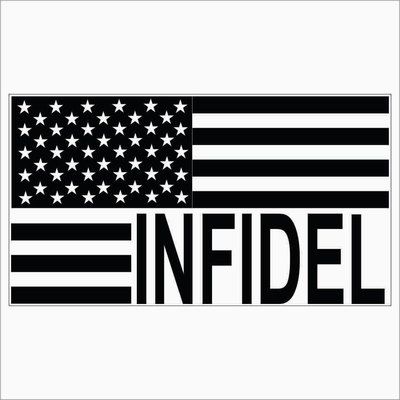 2two pack of custom infidel usa flag vinyl decals stickers