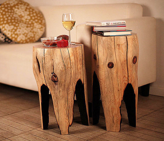Reclaimed Wood Coffee Table Set Of 2 Wooden Furniture