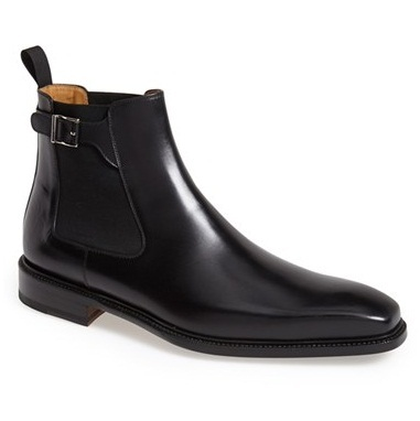 5eee0b432cd6 Handmade mens black color chelsea leather boots