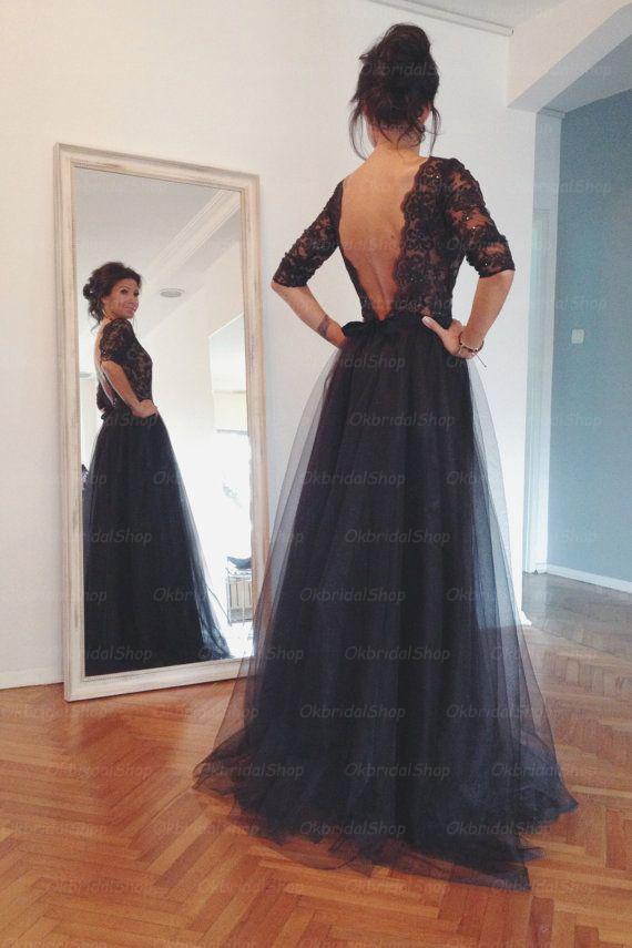 Lace prom dress 2015