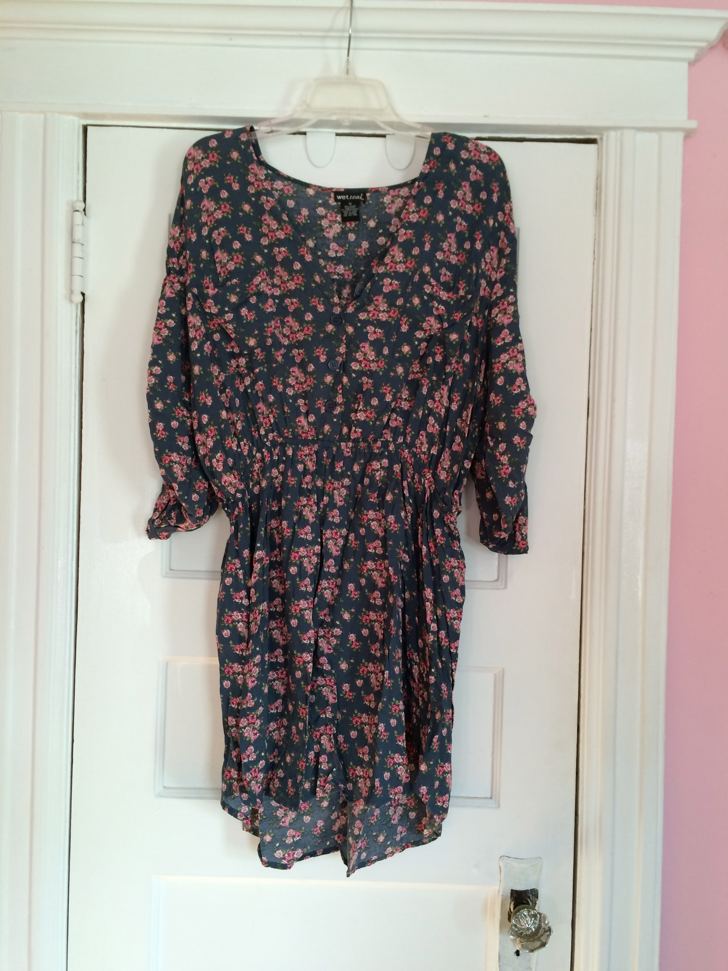 Wet Seal Plus Floral Shirt Dress Size 1X