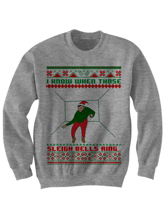 DRAKE UGLY CHRISTMAS SWEATER I KNOW WHEN THOSE SLEIGH BELLS RING ...