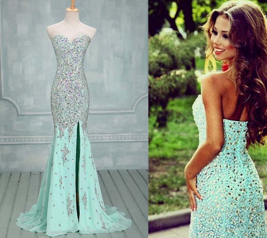 c35b19c5c6c8 87 Charming Mermaid Beading Prom Dress,Chiffon Evening Dress on Storenvy