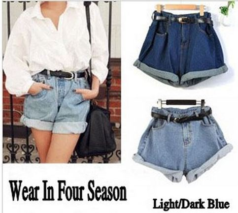 38480c6f25 Geometric Loose Fit High Waist Jean Denim Shorts on Storenvy