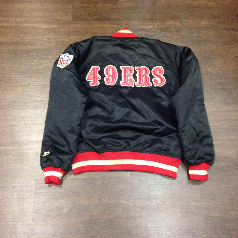 San Francisco 49ers Satin Starter Jacket Medium · Kings Court ... 49369dcbeba8