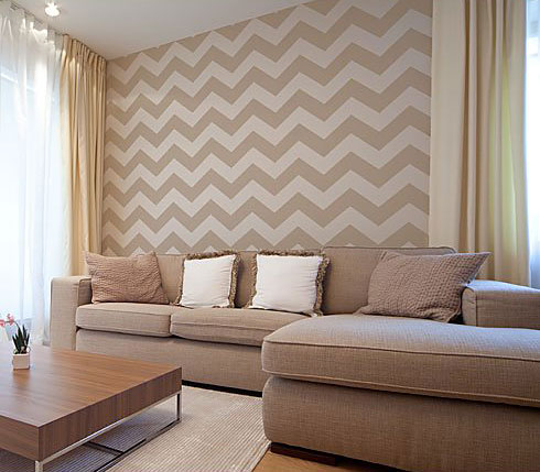Chevron Allover Stencil Pattern - SMALL - DIY Wall Decor - Easy Home  Improvement Project sold by Cutting Edge Stencils