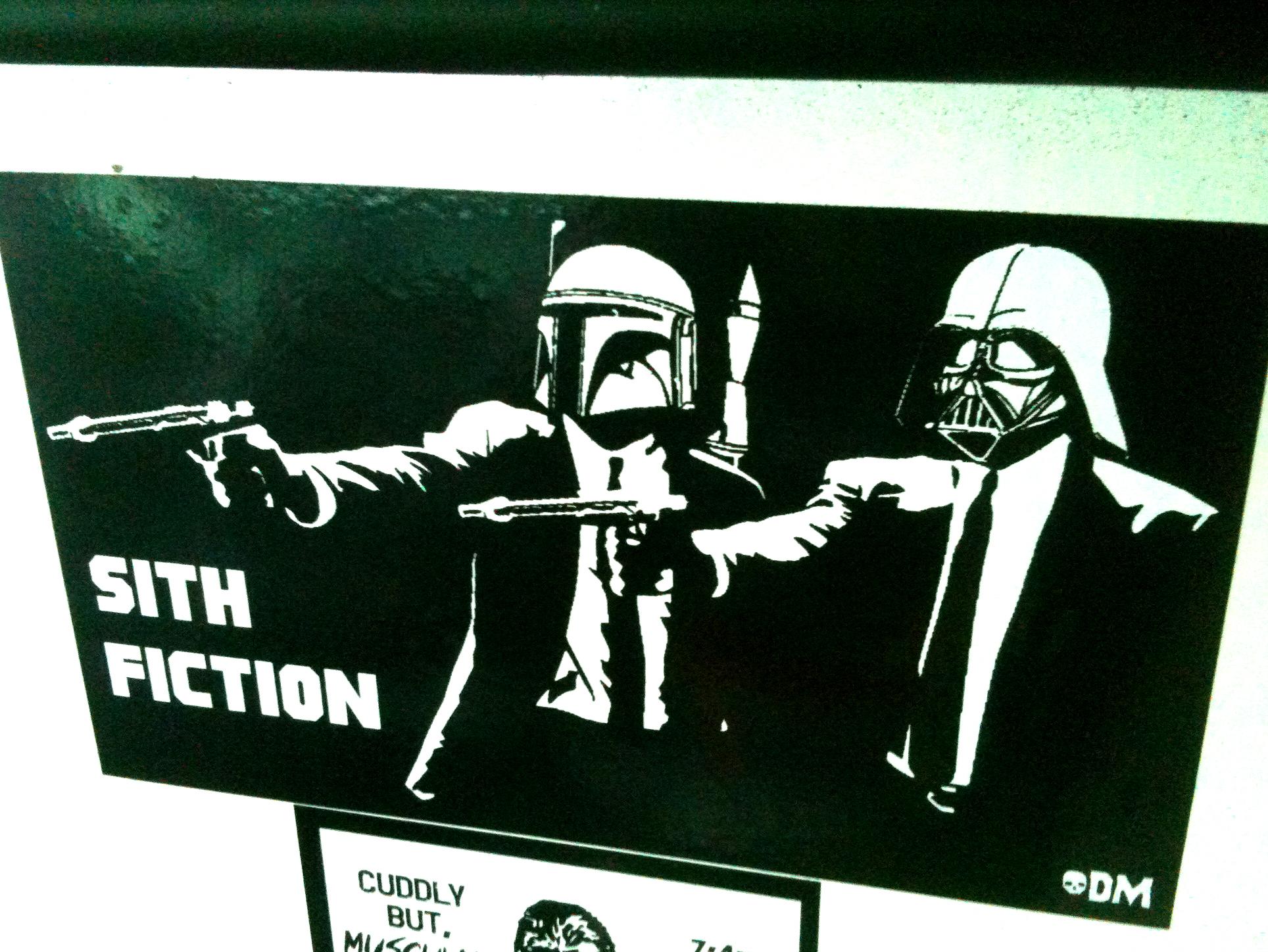 Sith Fiction Star Wars Pulp Fiction Mashup Vinyl Sticker