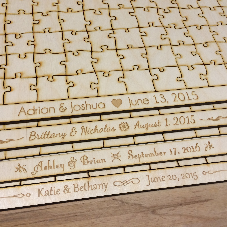 150 Piece Blank Wooden Puzzle Guest Book Alternative 23