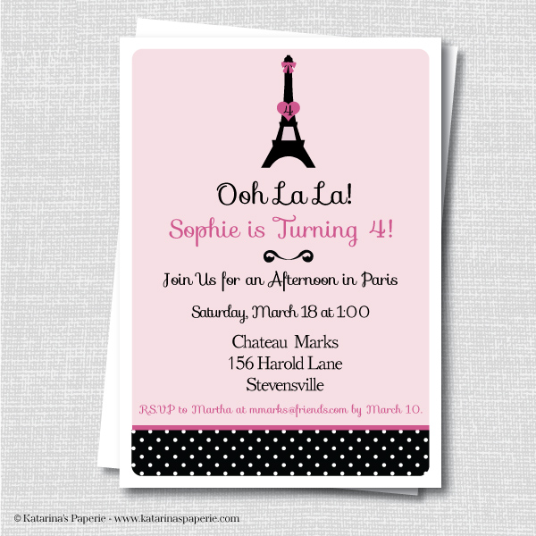 Paris Birthday Party Invitation