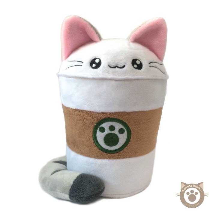 Purrista Pawfee Medium Size Cute Coffee Kitty Cat Plush Kimchi