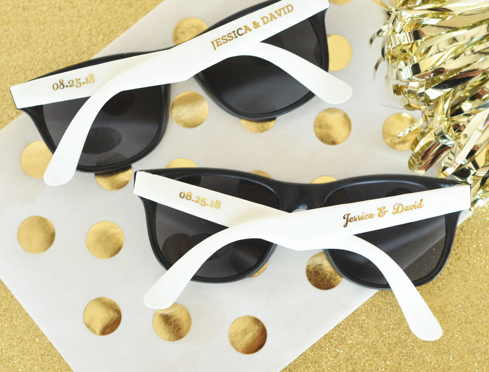 36d4313bf7 Personalized Wedding Sunglasses Set of 24 on Storenvy