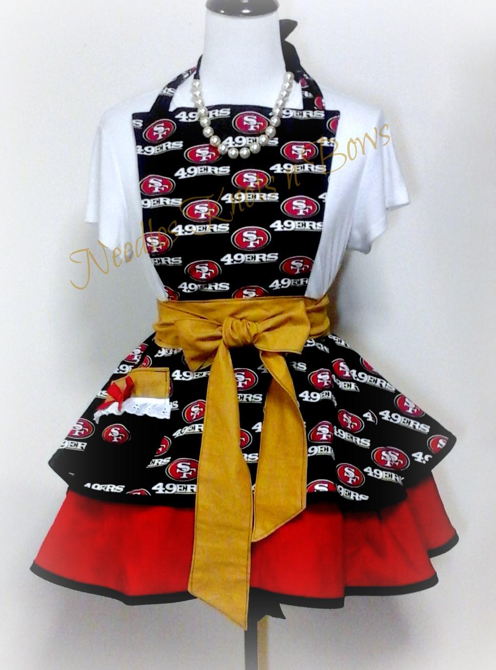 6b75899e San Francisco 49ers Womens Apron, Womens Forty Niners Apron, Football,  Aprons