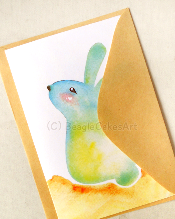 Bunny greeting card easter bunny 4x6 note card friendship card bunny greeting card easter bunny 4x6 note card friendship card m4hsunfo