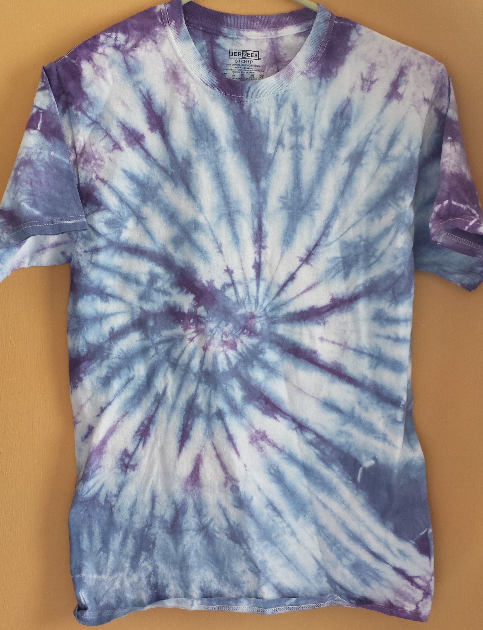28d51740402be Purple, Blue, and White Tie Dye Shirt (S)