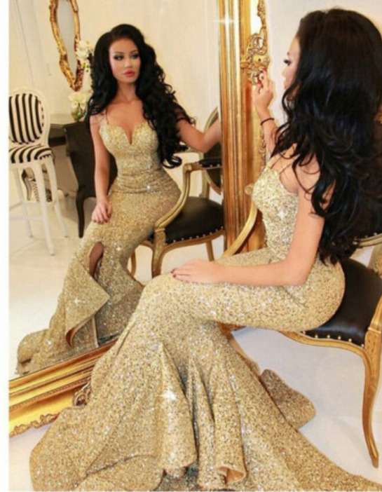f69ea89d6243 Sweetheart neck Gold Sequins Lace Mermaid Prom Dress,Long Evening Dress,Shiny  Prom Dresses APD1719 · DiyDresses · Online Store Powered by Storenvy