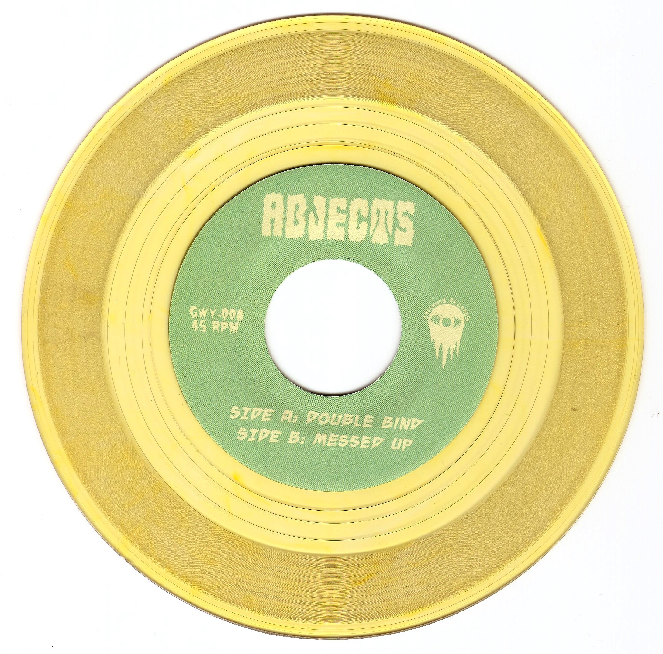 GWY-008 Abjects (Clear Yellow Vinyl) from Greenway Records