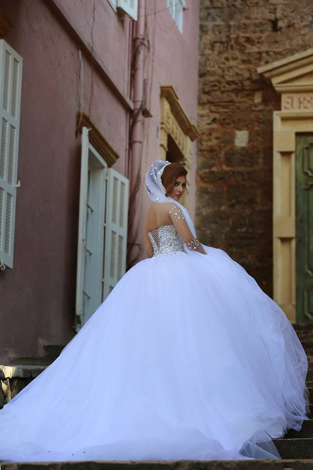 Sweetheart empire waist ball gown wedding dress,princess wedding ...